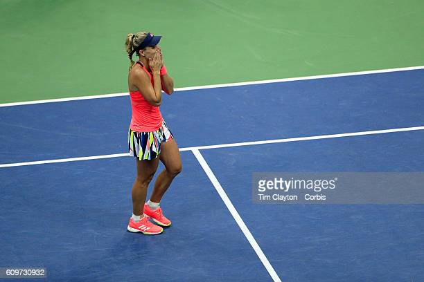 S Open Day 13 Angelique Kerber of Germany celebrates after her win against Karolina Pliskova of the Czech Republic in the Women's Singles Final on...