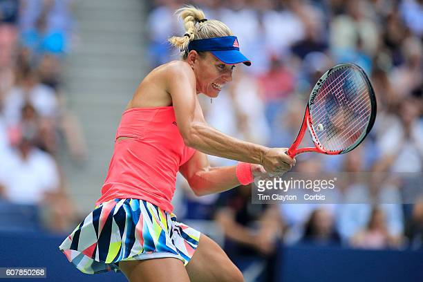 Open - Day 13 Angelique Kerber of Germany in action against Karolina Pliskova of the Czech Republic in the Women's Singles Final on Arthur Ashe...