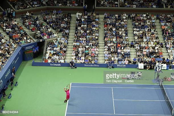 S Open Day 14 Stan Wawrinka of Switzerland in action against Novak Djokovic of Serbia in the Men'u2019s Singles Final on Arthur Ashe Stadium on day...