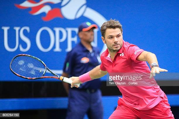 S Open Day 14 Stan Wawrinka of Switzerland in action against Novak Djokovic of Serbia in the Menu2019s Singles Final on Arthur Ashe Stadium on day...
