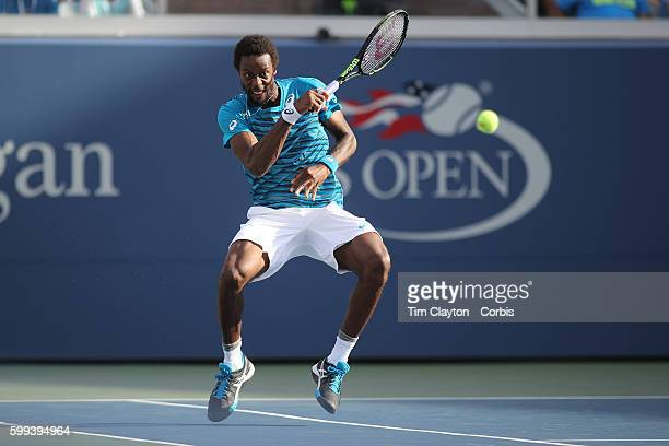 S Open Day 5 Gael Monfils of France in action against Nicolas Almagro of Spain in the Menu2019s Singles round three match on Grandstand Stadium on...
