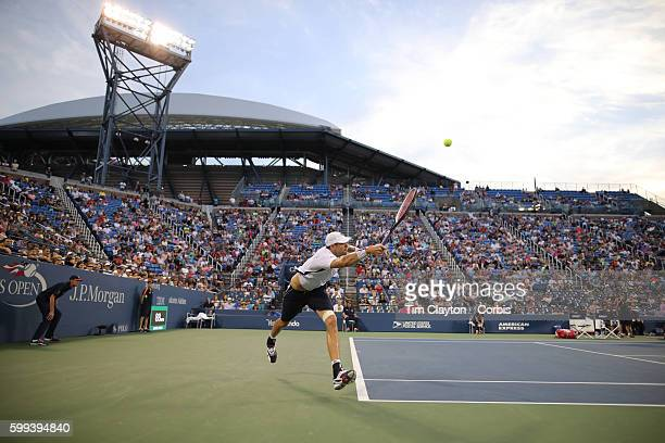 S Open Day 5 John Isner of the United States in action against Kyle Edmund of Great Britain in the Menu2019s Singles round three match on Louis...