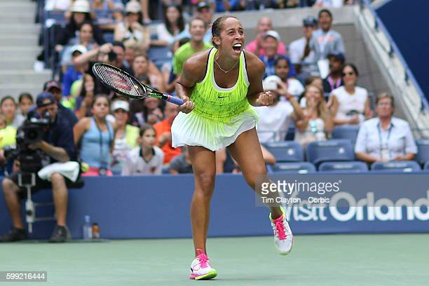 S Open Day 5 Madison Keys of the United States celebrates victory against Naomi Osaka of Japan in the Womenu2019s Singles round three match on Arthur...