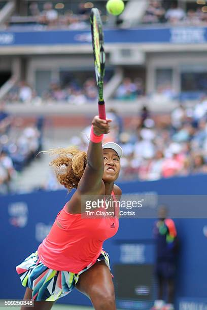S Open Day 5 Naomi Osaka of Japan in action against Madison Keys of the United States in the Womenu2019s Singles round three match on Arthur Ashe...