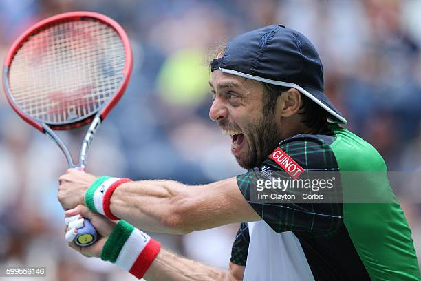 S Open Day 6 Paolo Lorenzi of Italy in action against Andy Murray of Great Britain in the Men's Singles round three match on Arthur Ashe Stadium on...
