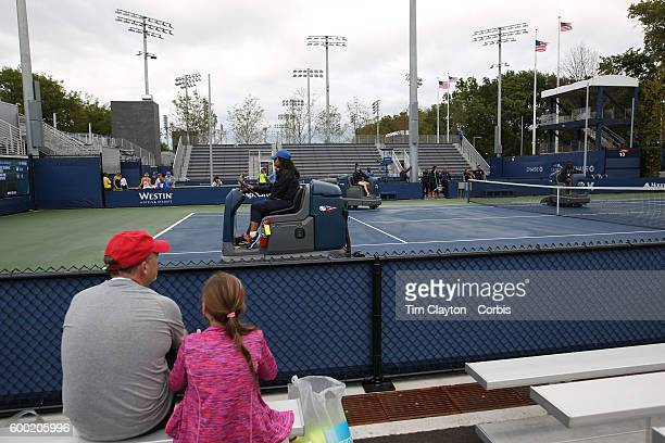 S Open Day 9 Fans wait for play on the outer courts during a rain delay on day nine of the 2016 US Open Tennis Tournament at the USTA Billie Jean...