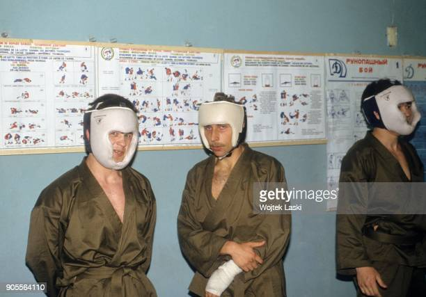 Open days at the KGB school in Moscow, Russia, on July 7th, 1991. Pictured: a martial arts training.