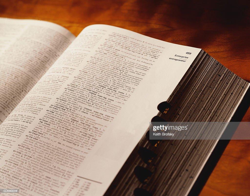 Open Dictionary : Stock Photo