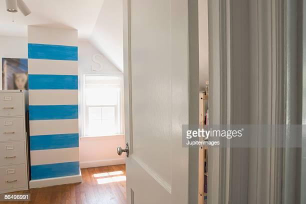 Open door and room