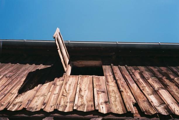 Open door in barn