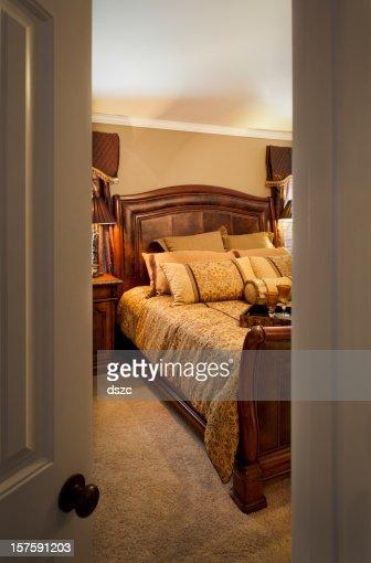 . Open Door Into Bedroom Stock Photo   Getty Images