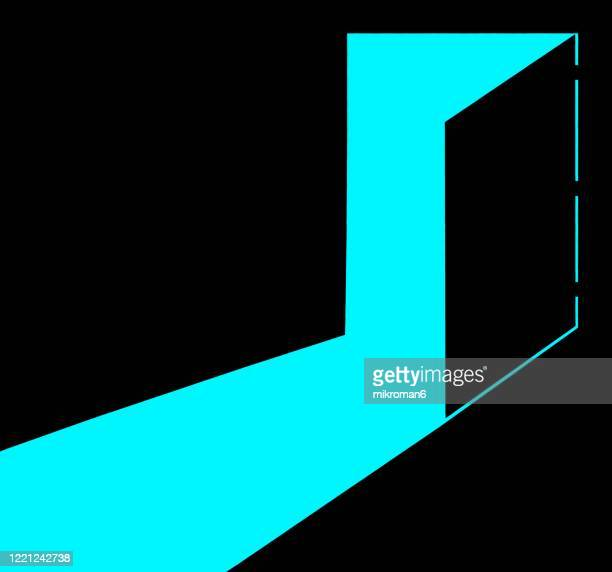 open door with light - the way forward stock pictures, royalty-free photos & images