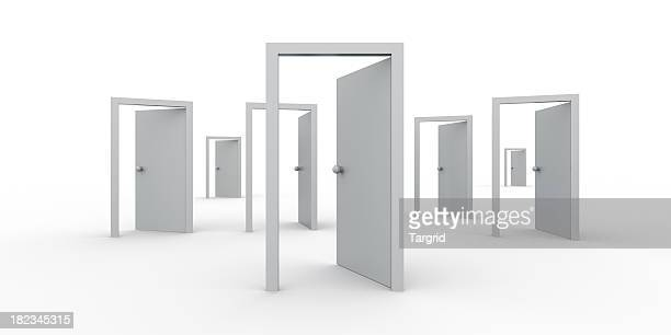 open doors - find your way - doorway stock pictures, royalty-free photos & images