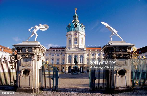 Open entrance gate of the Charlottenburg Palace, Berlin, Germany