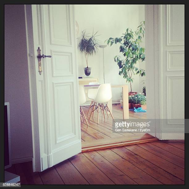 Open Entrance Of Dining Room At Home