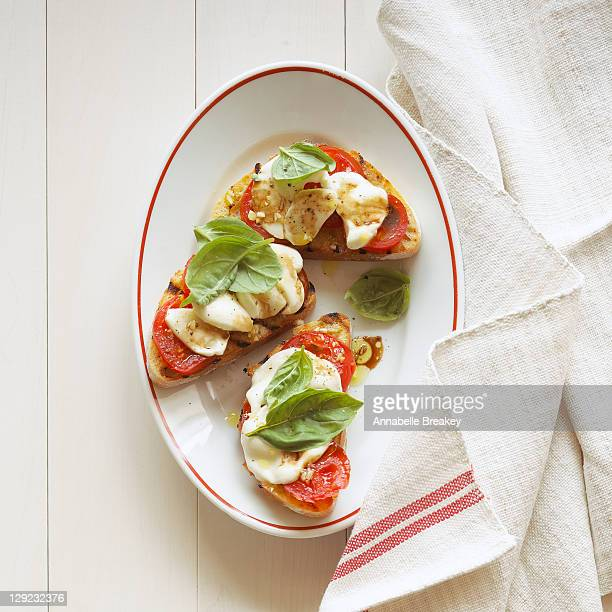 Open Face Caprese Sandwiches
