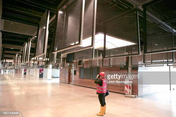 open fire protection systems for inspections and work of the BerlinBrandenburg International Airport Willy Brandt Airport during a visit to the...