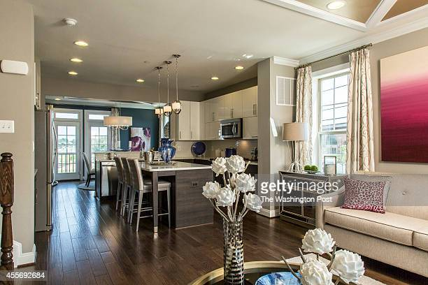Open Floor Plan on the Second Floor of the model Townhome at Townes at Shady Grove on August 21 2014 in Rockville Maryland