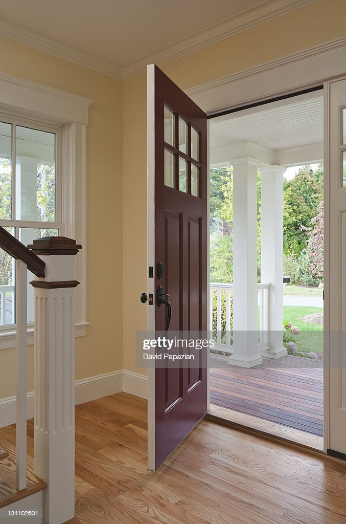 open front door. Open Front Door Of Home Interior : Stock Photo E