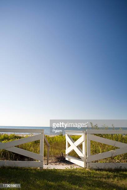 Open gate to the beach
