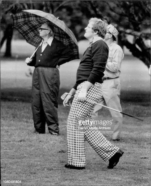 NSW Open Golf Championship at The Royal Sydney Golf ClubJ Newton on the 10th fairway October 14 1976