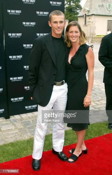 US Open golfer Charles Howell III and wife Amy during Golf Digest Companies Celebrates the 2002 US Open Golf Championship at Oheka Castle in Cold...