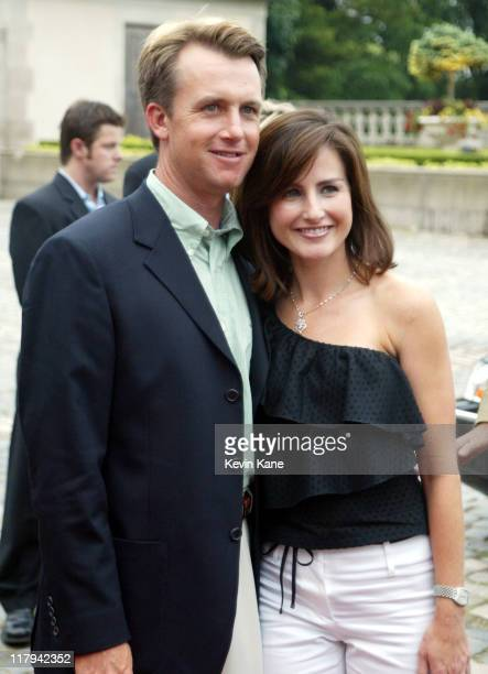 US Open golfer David Toms and wife Sonja during Golf Digest Companies Celebrates the 2002 US Open Golf Championship at Oheka Castle in Cold Spring...