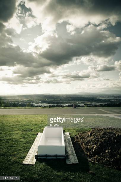 open grave - open casket stock pictures, royalty-free photos & images