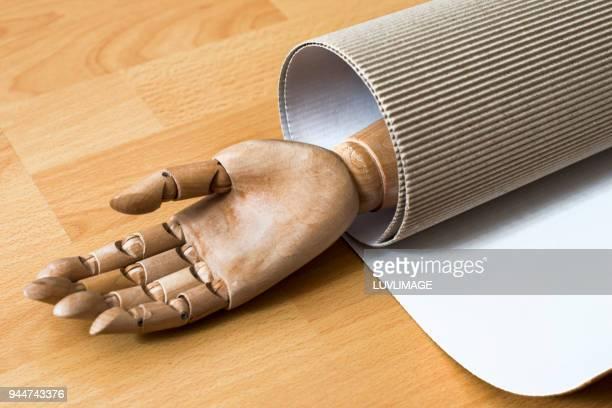Open Hand In Cardboard.