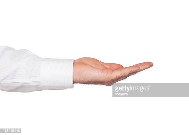 Ouvert la main avec un Tracé de détourage