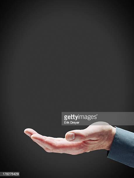 Open hands gesture