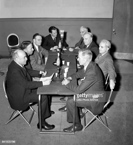 Open Hearing, CBS Radio interview program with Senators. Ralph E. Flanders , Harry P. Cain , William E. Jenner , CBS Radio moderator Winston Burdett,...