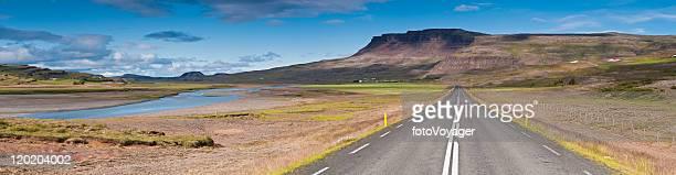 Aprire l'autostrada paesaggio spettacolare panorama Islanda