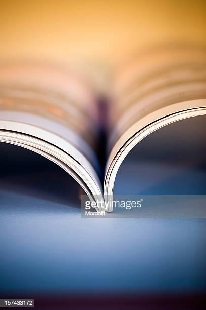 Open illustrated magazine