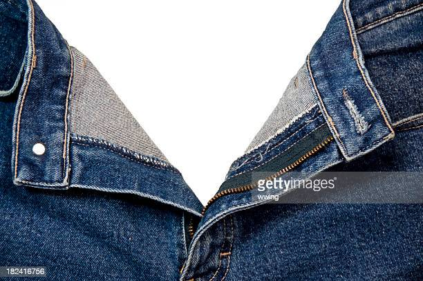 open jeans with clipping path - fully unbuttoned stock pictures, royalty-free photos & images