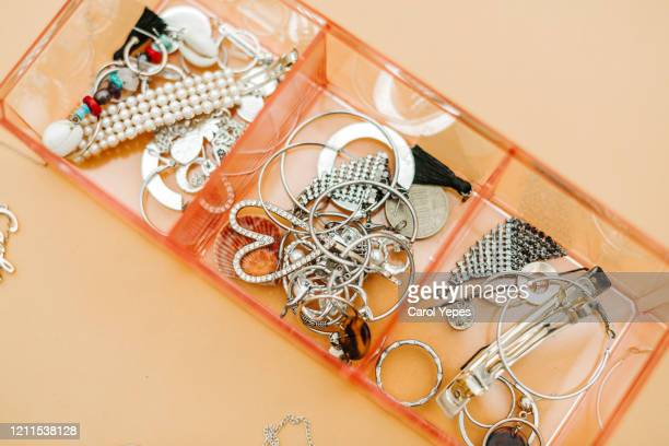 open jewelry box - necklace stock pictures, royalty-free photos & images