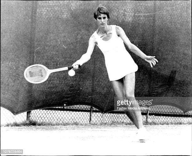 Open Lawn Tennis Championships at White City - Chris O'Neil of Newcastle. January 2, 1974. .