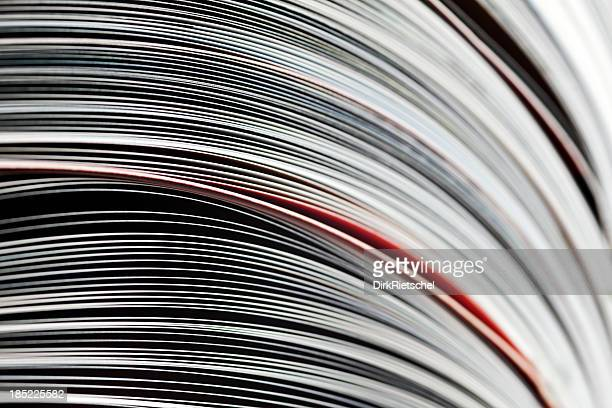open magazines - magazine page stock photos and pictures