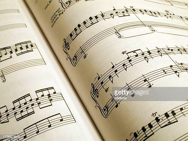 open messiah score - sheet music stock photos and pictures