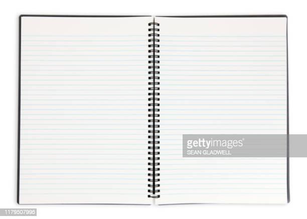 open note pad - notizbuch stock-fotos und bilder