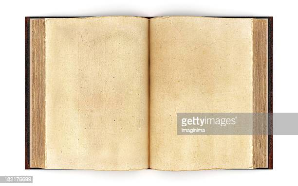 open old book - clipping path - category:pages stock pictures, royalty-free photos & images