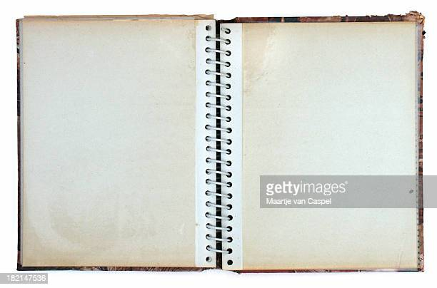 open old ring bound photo album - photo album stock photos and pictures