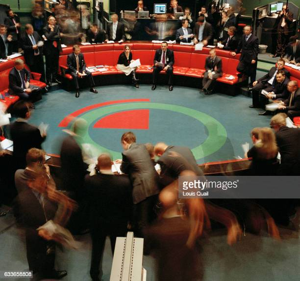 Open outcry takes place on the floor at the LME on 13th of December 2006 in London Established for over 130 years and located in the heart of The...