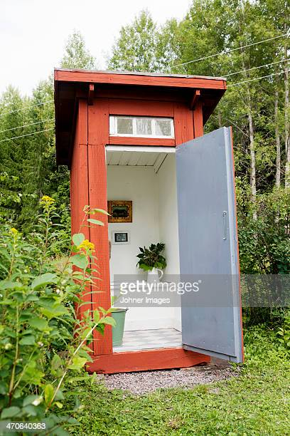 Open outhouse