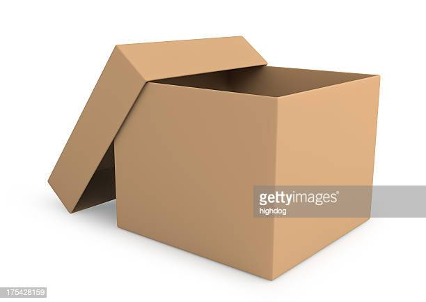 open packing box