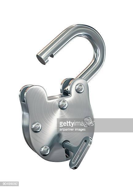 Open Padlock made of steel