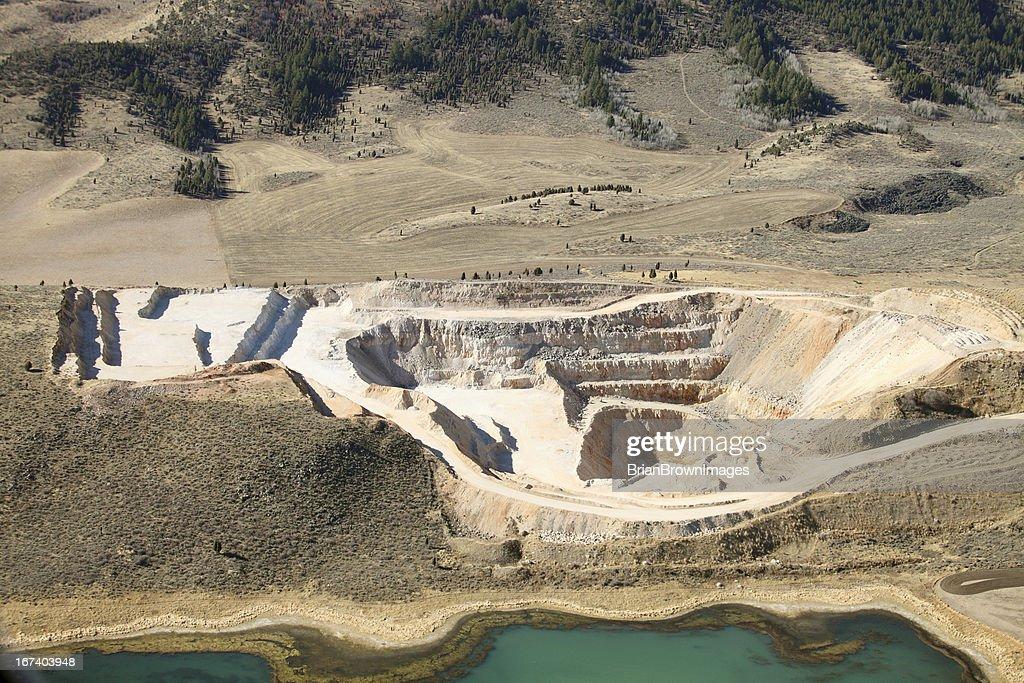 Open pit mine : Stockfoto