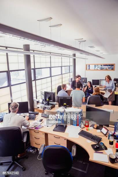 Open Plan Busy Office