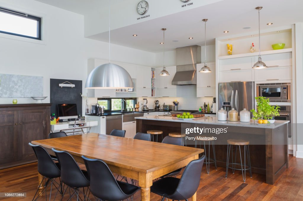 Open Plan Kitchen Dining Area With