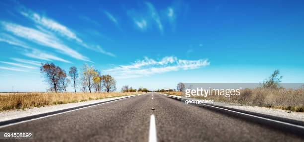 Open road in Australian outback